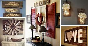 27, Best, Rustic, Wall, Decor, Ideas, And, Designs, For, 2017