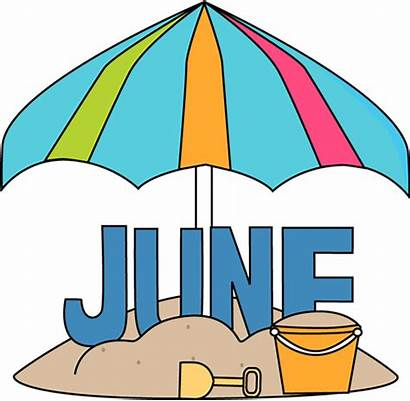 June Month Beach Clip Graphics