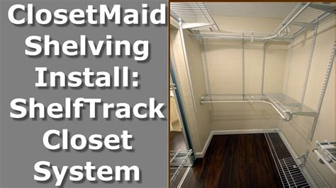 How To Hang Closetmaid Wire Shelving - closetmaid shelving install shelftrack wire shelving