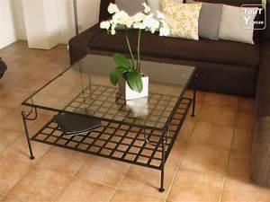 Table Verre Et Fer Forgé : table basse en verre fer forg le bois chez vous ~ Teatrodelosmanantiales.com Idées de Décoration