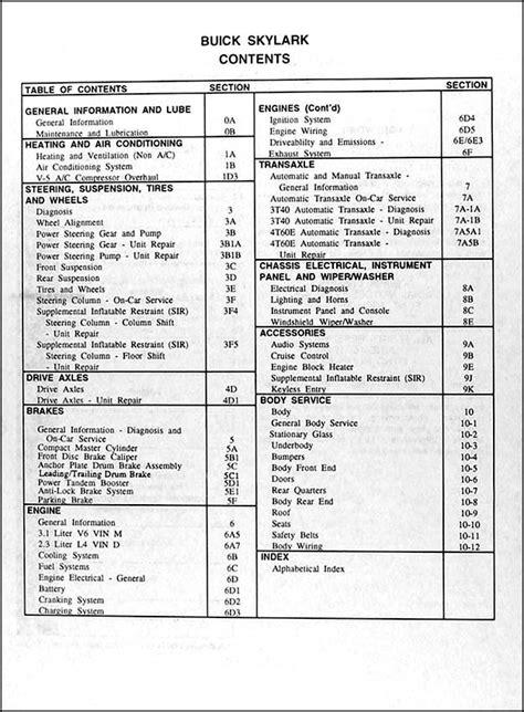 service repair manual free download 1992 buick skylark transmission control 1994 buick skylark repair shop manual original