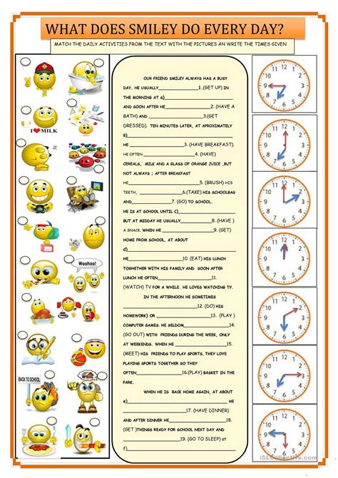 daily routines english esl worksheets