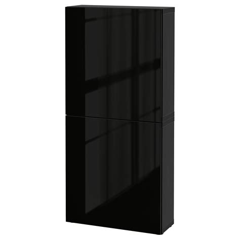 2 door wall cabinet bestå wall cabinet with 2 doors black brown selsviken high