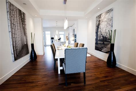 large canvas wall art Dining Room Contemporary with