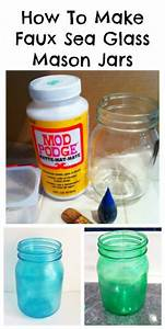 How, To, Make, Faux, Sea, Glass, Diy, Stained, Glass, Jars, Fauxseaglass, Repurposed, Upcycled, Jars