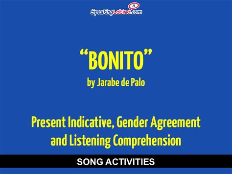 Spanish Song To Practice Present