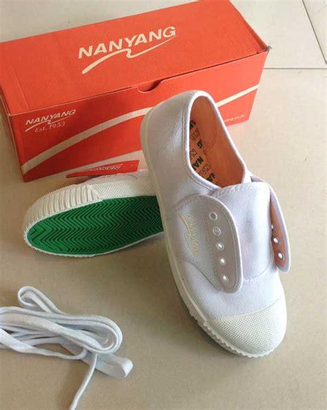 รองเท้าพละ ผ้าใบสีขาว ยี่ห้อนันยาง เบอร์ 43 - 45 - FG ...