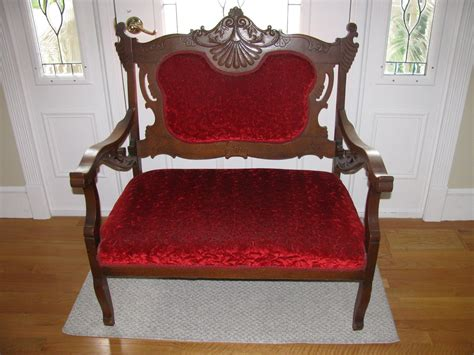 Antique Settee Loveseat by Details About Vintage Antique Setee Settee