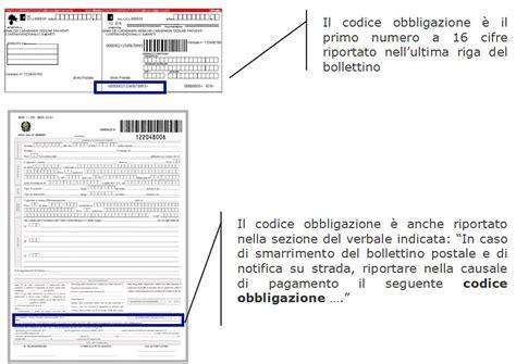 codice ufficio postale contravvenzioni on line