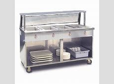 Food Warming Equipment Steam Table, 4 Pan Portable With