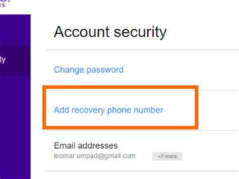 account recovery phone number how to secure your yahoo account