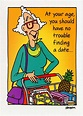 Oatmeal Studios Grocery Shopping Woman Funny / Humorous ...