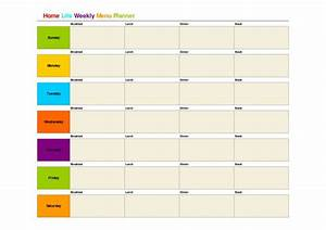 printable weekly menu template bing images clean With weekly lunch menu template