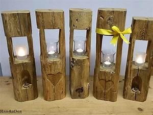 Deko Aus Holz : windlichter aus alten balken geschenkidee deko holzbalken windlicht bikini figur ~ Markanthonyermac.com Haus und Dekorationen