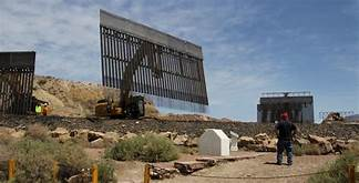 Private border wall stopped temporarily