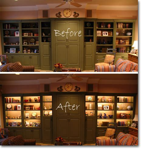 Cabinet Lighting With Custom Light Fixtures & LED Shelf Lights