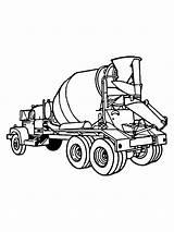 Cement Mixer Coloring Betonmischer Ausmalbilder Printable Malvorlagen Zum sketch template