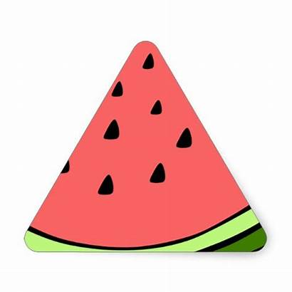 Triangle Watermelon Slice Objects Clipart Juicy Triangles