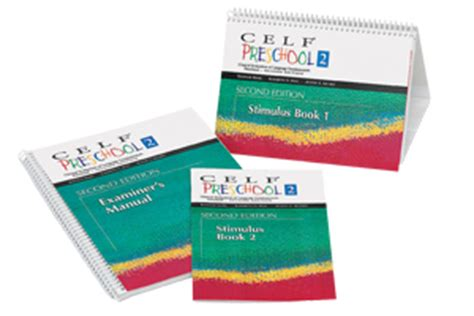 clinical evaluation of language fundamentals 174 preschool 2 469 | celf pre2 kit