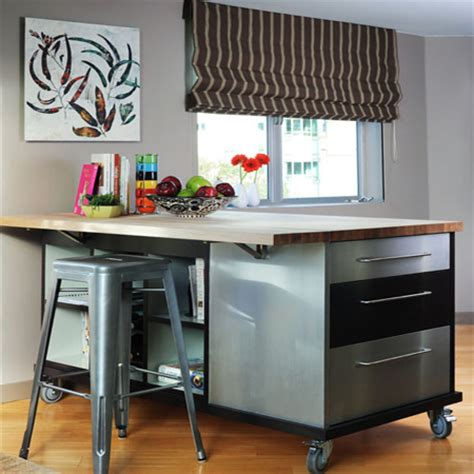 butcher block kitchen island breakfast bar home dzine kitchen choose a kitchen island style