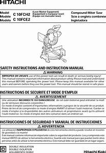 Hitachi C10fce2 1508402l User Manual Miter Saw Manuals And