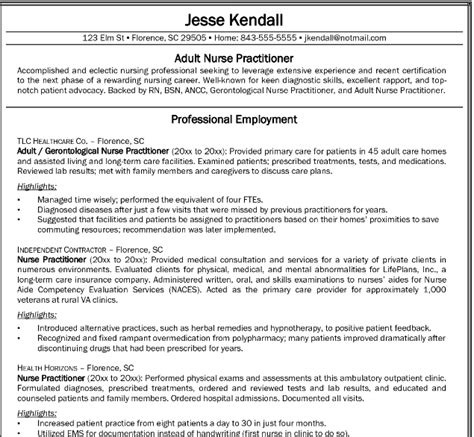 How To Write A Nursing Resume by Professional Resume For Nurses