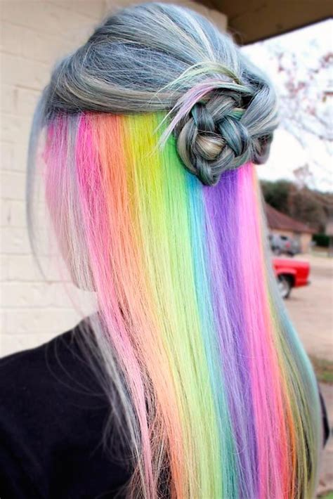 18 Mesmerizing Hidden Rainbow Hair Hair I Love Hidden