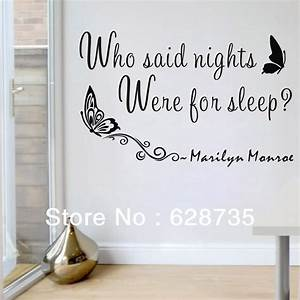 Free shipping quot who said nights were for sleep marilyn
