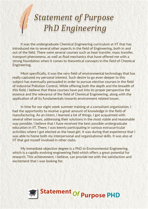 crafting  statement  purpose phd engineering