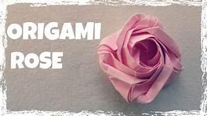 Comment Faire Secher Une Rose : origami facile faire une rose en papier youtube ~ Melissatoandfro.com Idées de Décoration