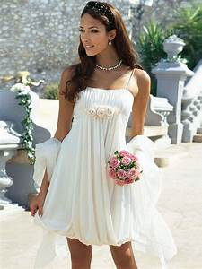 25 Short Beach Wedding Dresses
