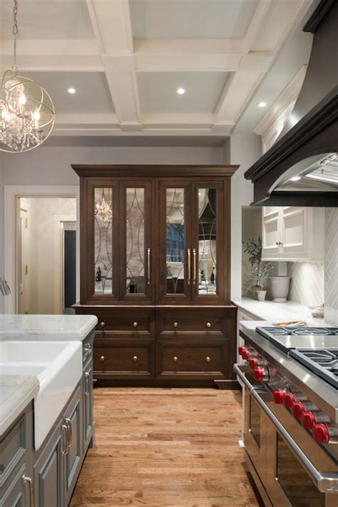 hutch  mirrored doors transitional kitchen