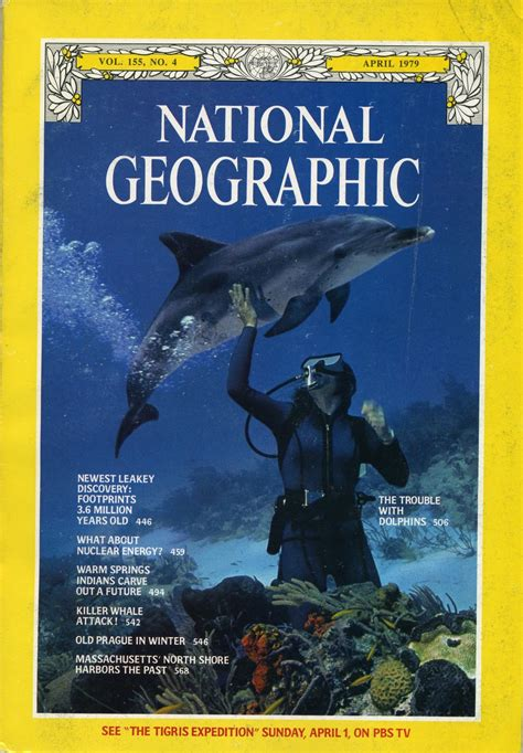National Geographic April 1979the Trouble With Dolphins