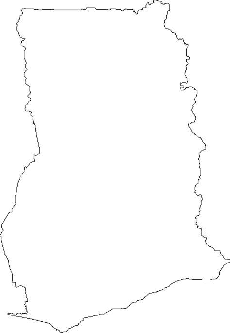 blank outline map  ghana