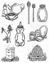 Honey Coloring Come Coloringsky sketch template
