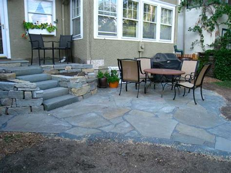 blue patio ideas local roots landscapers patios paths