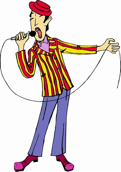 Clipart Singing Animated Singer Transparent Rockstar Cartoon