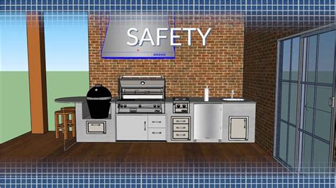 outdoor kitchen safety ventilation bbqguyscom youtube