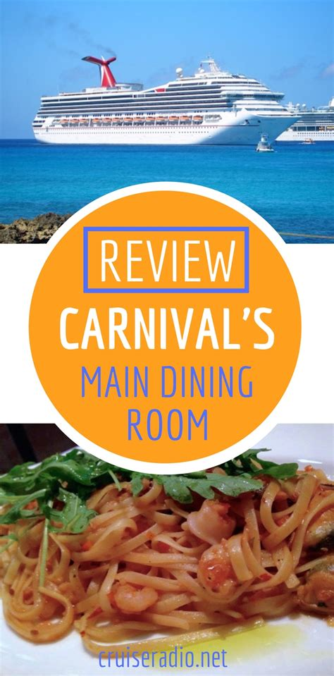 Review Carnival Cruise Line Dining Room
