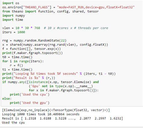 Machine Learning Ensuring Python Code Running