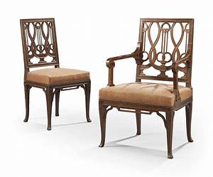 Chaise Louis Xvi : chaise et fauteuil de style louis xvi en suite dans le gout de georges jacob xxeme siecle ~ Teatrodelosmanantiales.com Idées de Décoration