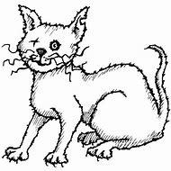 Scary Cat Clip Art