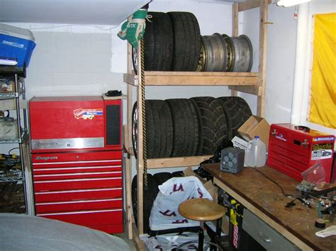 garage storage on wheels wheel storage solution for garage rennlist discussion forums