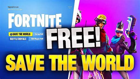 fortnite save  world   working