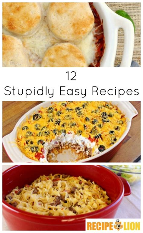 easy dinner recioes 12 stupidly easy recipes quick dinner ideas and desserts recipechatter
