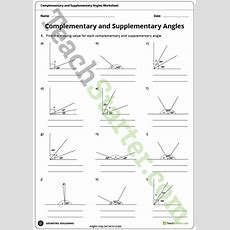 Complementary And Supplementary Angles Worksheet Teaching Resource  Teach Starter