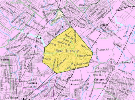 the bureau of census file census bureau map of rahway jersey png