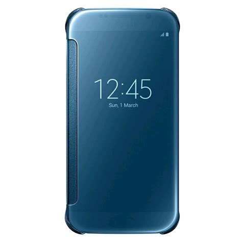 clear view cover samsung s6 samsung clear view cover for samsung galaxy s6 blue