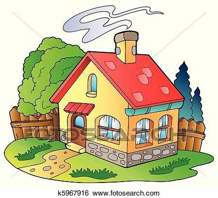 Clip Art  Klein, Familie, Haus K5967916  Suche Clipart