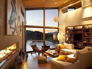 Bilder Für Wohnungsdekoration : warme beleuchtung wohnzimmer einrichten ideen ~ Michelbontemps.com Haus und Dekorationen